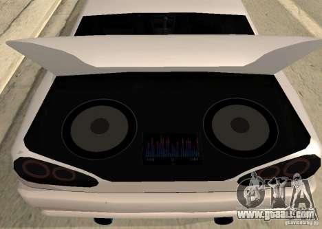 Elegy MIX v2 for GTA San Andreas back left view