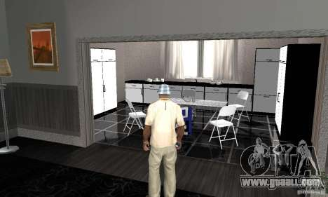 Modern Savehouse interior for GTA San Andreas second screenshot