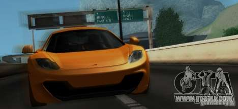 McLaren MP4-12C TT Black Revel for GTA San Andreas bottom view
