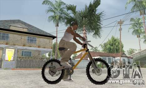 Downhill Bike for GTA San Andreas back left view
