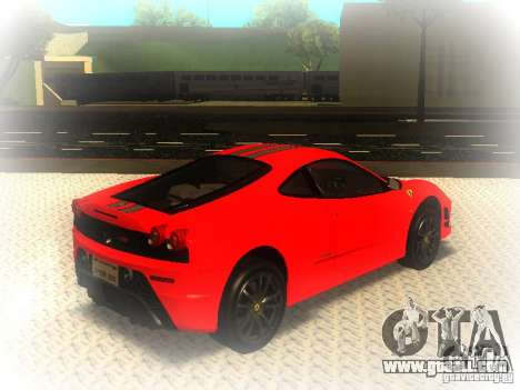 Ferrari 430 Scuderia TT Black Revel for GTA San Andreas back left view
