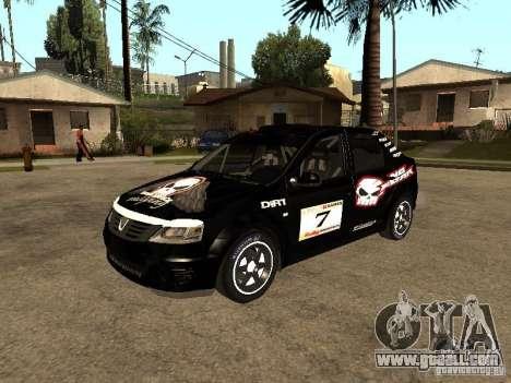 Dacia Logan Rally Dirt for GTA San Andreas bottom view