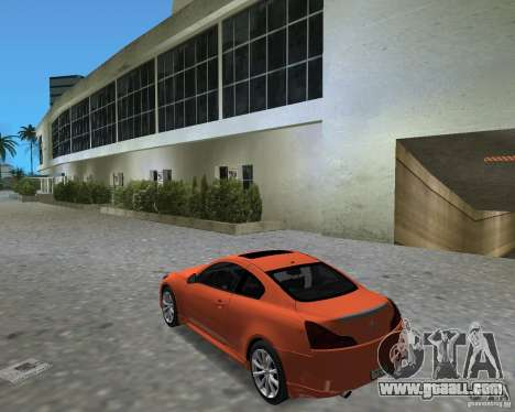 Infinity G37 for GTA Vice City right view