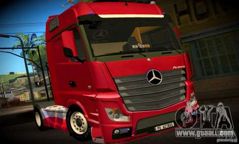 Mercedes-Benz Actros 2012 for GTA San Andreas