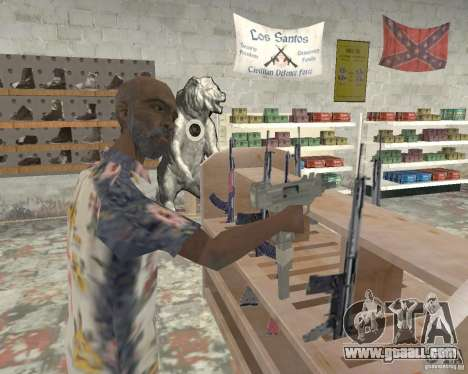 A bustling shop Ammu-Nation v3 (Final) for GTA San Andreas third screenshot