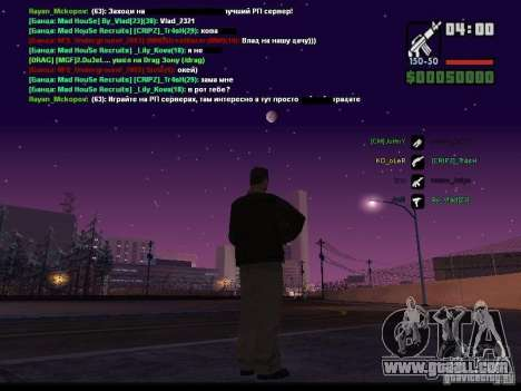 Starry sky v2.0 (for SA: MP) for GTA San Andreas fifth screenshot