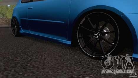 VW Golf 5 R32 2006 StanceWorks for GTA San Andreas inner view