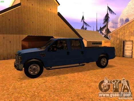 Ford F350 for GTA San Andreas back left view