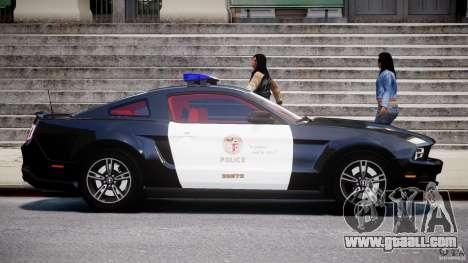 Ford Mustang V6 2010 Police v1.0 for GTA 4 inner view