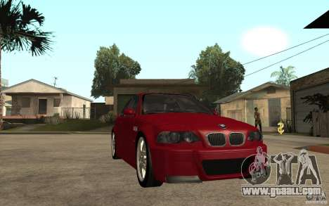 BMW M3 CSL for GTA San Andreas back view