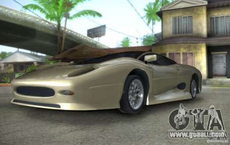 Jaguar XJ 220 Black Rivel for GTA San Andreas back view