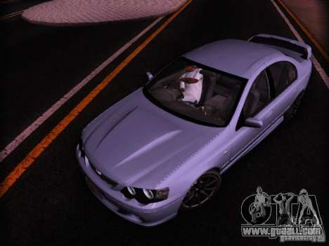 Ford Falcon FPV F6 TYPHOON XR8 2007 for GTA San Andreas back left view