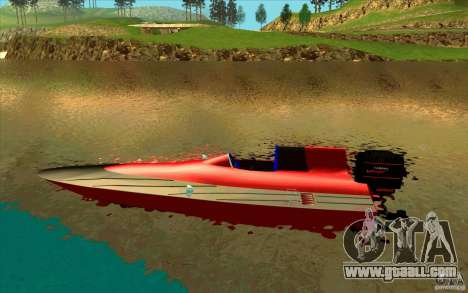 Race Boat for GTA San Andreas left view