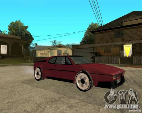 BMW M1 for GTA San Andreas right view