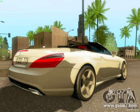 Mercedes-Benz SL350 2013 for GTA San Andreas right view