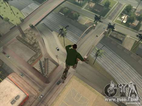 Jump off the Jet pack for GTA San Andreas