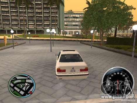 BMW E34 540i for GTA San Andreas back left view