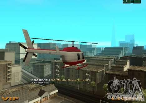 New Maverick for GTA San Andreas left view