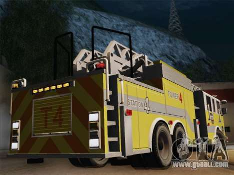 Pierce Arrow XT BCFD Tower Ladder 4 for GTA San Andreas right view