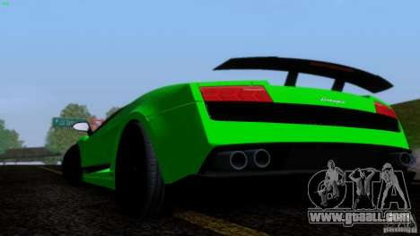 Lamborghini Gallardo LP570-4 Superleggera for GTA San Andreas inner view