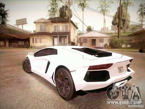 Lamborghini Aventador LP700-4 for GTA San Andreas left view