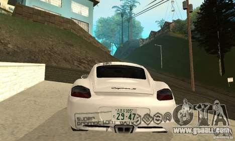 Porsche Cayman S for GTA San Andreas wheels