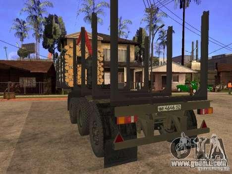 Trailer MAZ 99864 for GTA San Andreas inner view