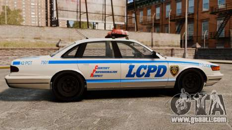 A New Police Cruiser for GTA 4 left view