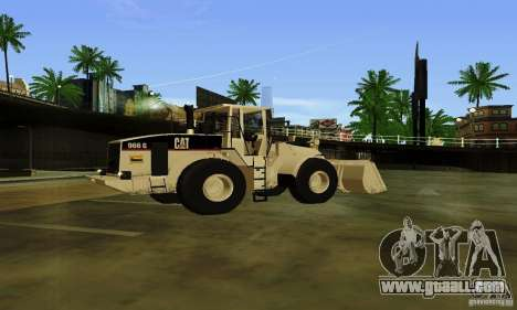 Bulldozer CAT for GTA San Andreas left view