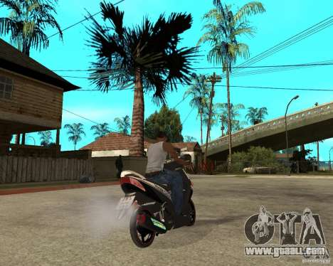 Honda Click for GTA San Andreas back left view