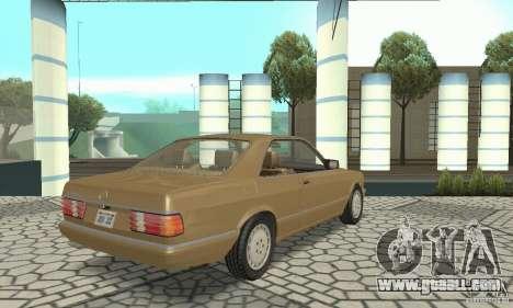 Mercedes-Benz W126 560SEC for GTA San Andreas back left view