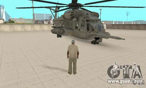 Sikorsky MH-53 for GTA San Andreas back view
