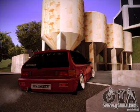 Honda Civic EF9 Hatch Stock for GTA San Andreas back left view