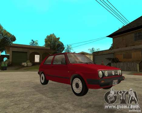 Volkswagen Golf Mk.II for GTA San Andreas right view