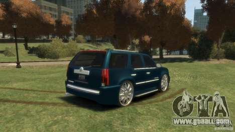 Cadillac Escalade Dub for GTA 4 left view