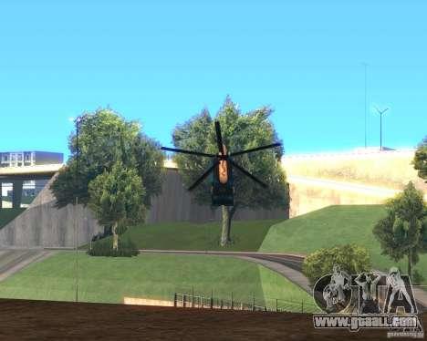 Cops Hoddogeres for GTA San Andreas back left view
