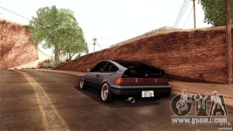 Honda CRX JDM for GTA San Andreas back view