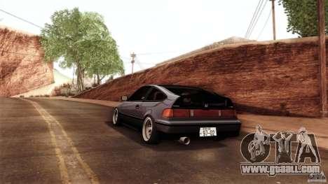 Honda CRX JDM for GTA San Andreas back view