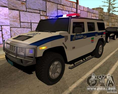 Hummer H2 DPS for GTA San Andreas side view