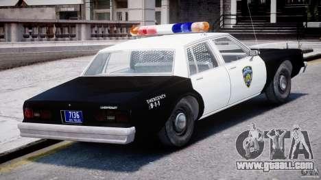 Chevrolet Impala Police 1983 [Final] for GTA 4 bottom view