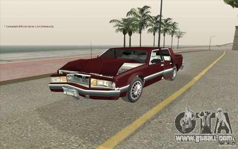 Chrysler Dynasty for GTA San Andreas inner view