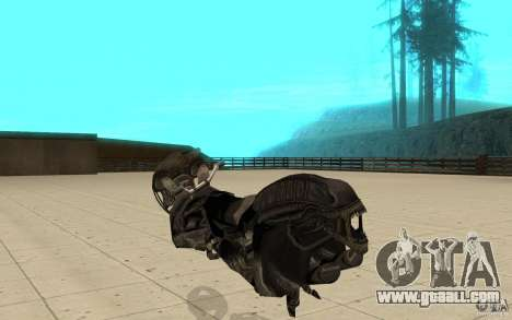 Bike predator for GTA San Andreas back left view