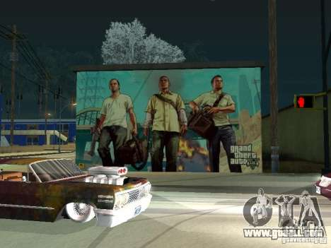 Poster Of GTA V for GTA San Andreas second screenshot