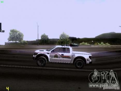 Ford Raptor Royal Canadian Mountain Police for GTA San Andreas inner view