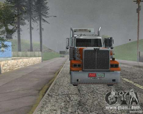 Western Star 4900EX v 0.1 for GTA San Andreas back left view