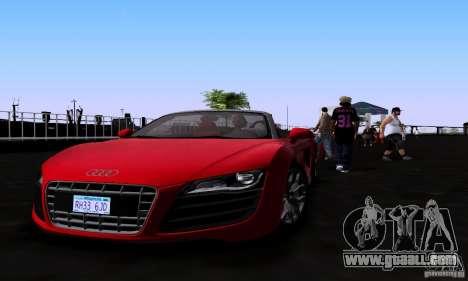 Audi R8 Spyder for GTA San Andreas