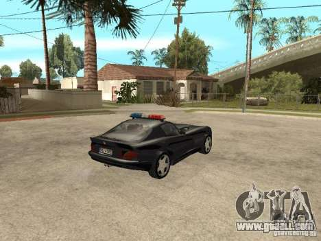Dodge Viper Police for GTA San Andreas back left view