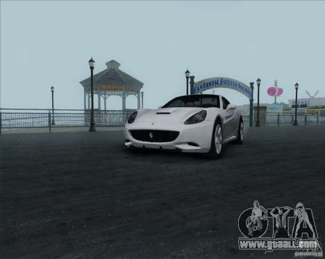 Ferrari California 2009 for GTA San Andreas back left view