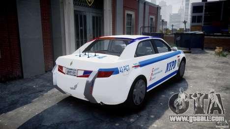 Carbon Motors E7 Concept Interceptor NYPD [ELS] for GTA 4 back left view