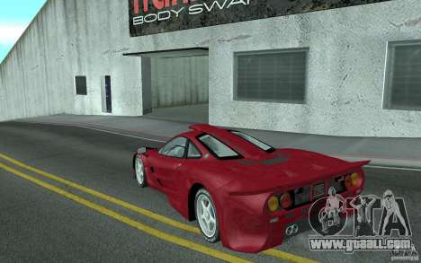 Mclaren F1 GT (v1.0.0) for GTA San Andreas back left view